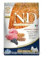 Psi - krmivo - N&D LG DOG Adult Mini Lamb & Blueberry
